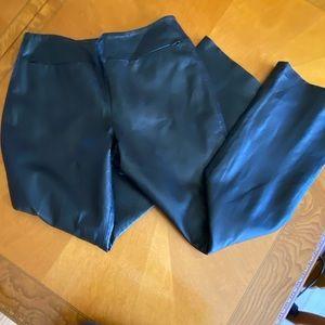 Shape FX by Newport News Black Leather Pants SZ 10